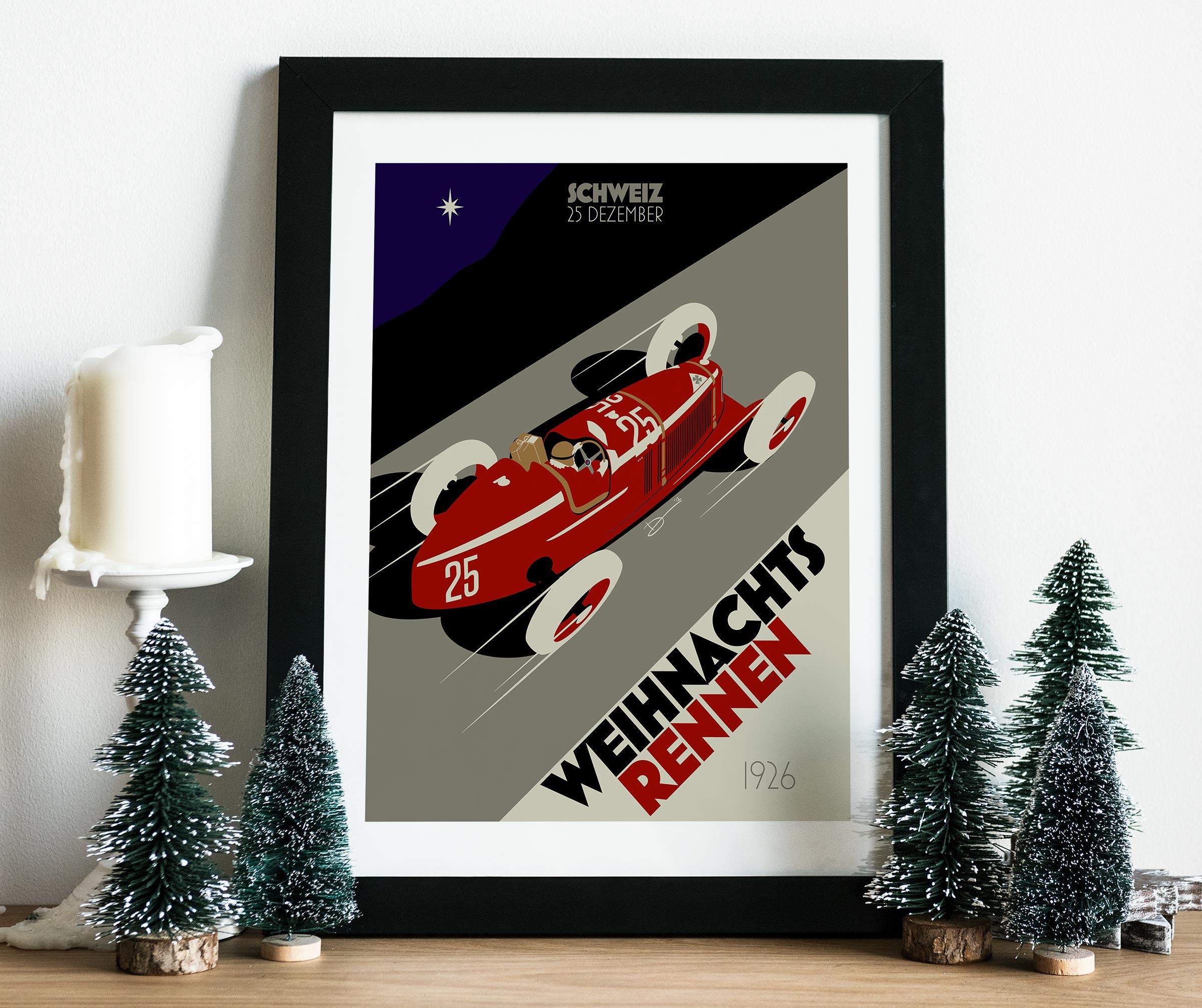 2012 Christmas Poster mockup