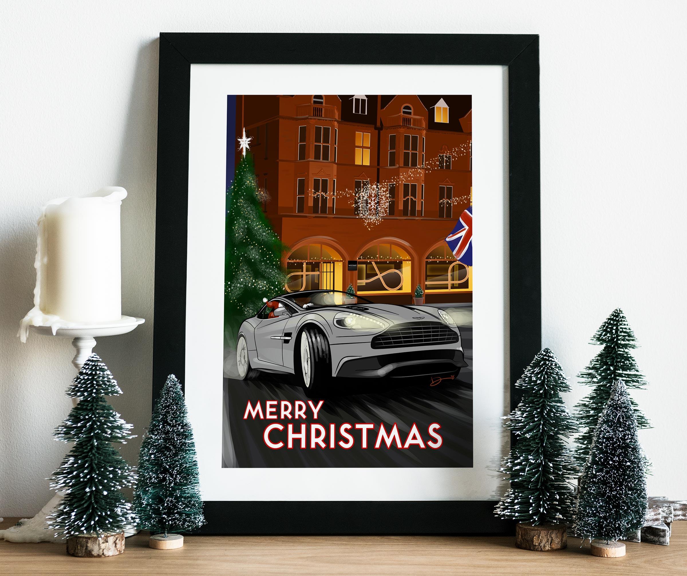 2018 Christmas Poster mockup
