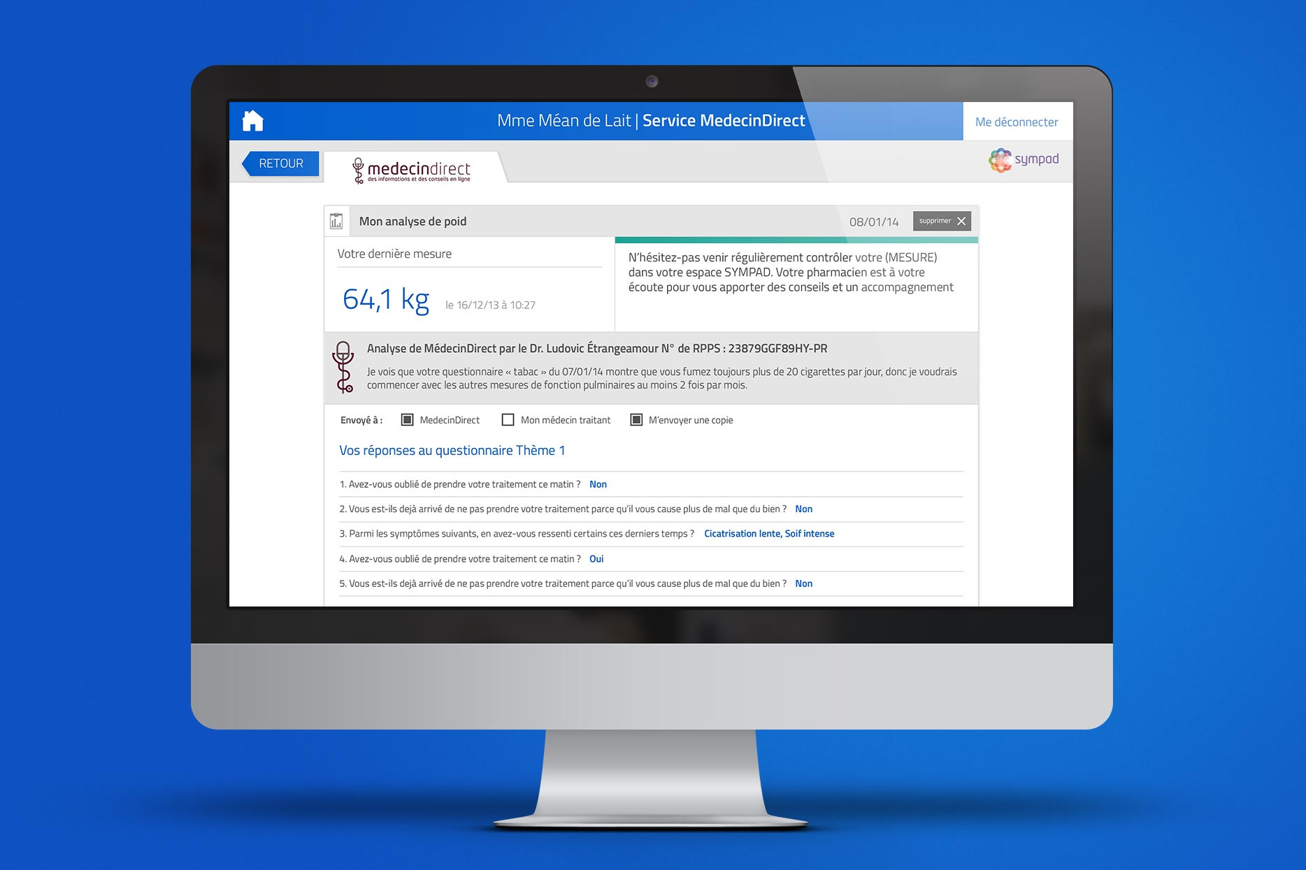 SYMPAD iMac-Mockup-AnalyseDePoid