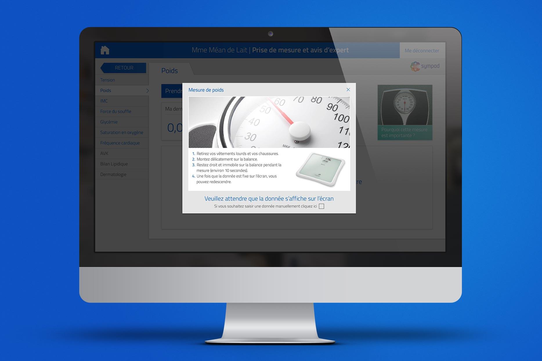 SYMPAD iMac-Mockup-MesurePoids