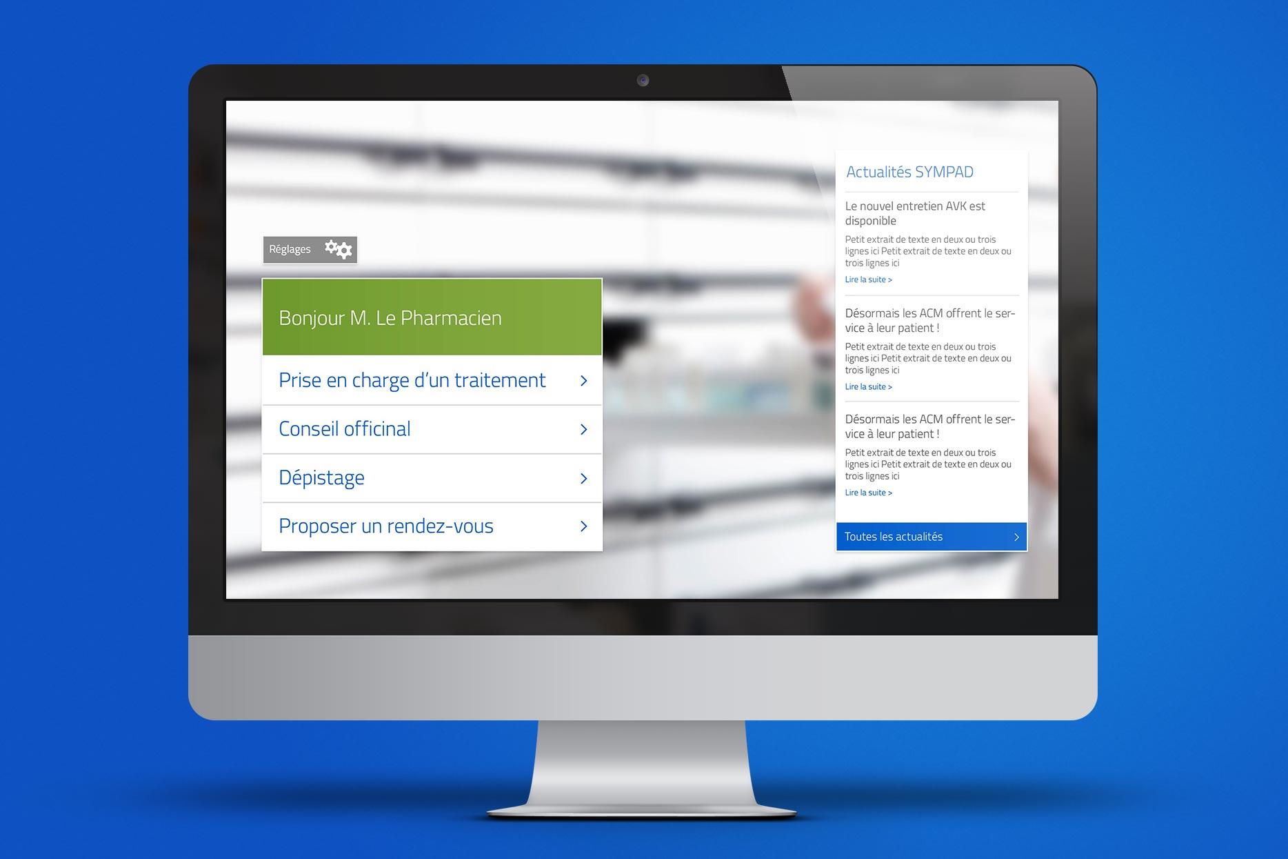 SYMPAD iMac-Mockup-PharmacienWelcome