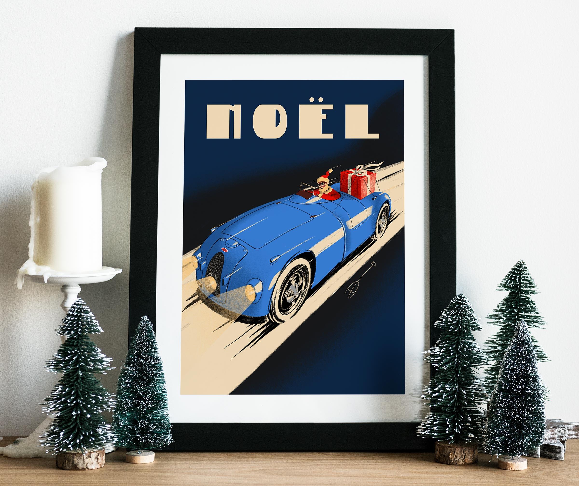 2019 Christmas Poster mockup-Bugatti Noel