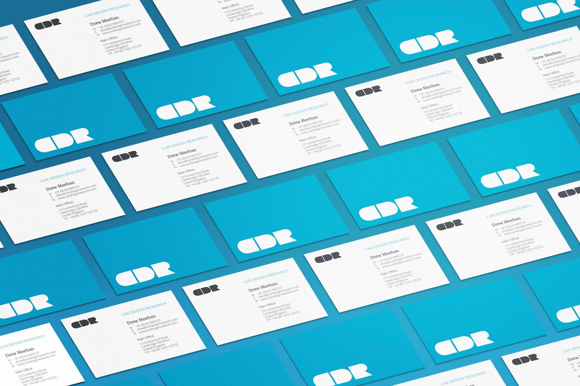CDR Business cards Isometric mockup