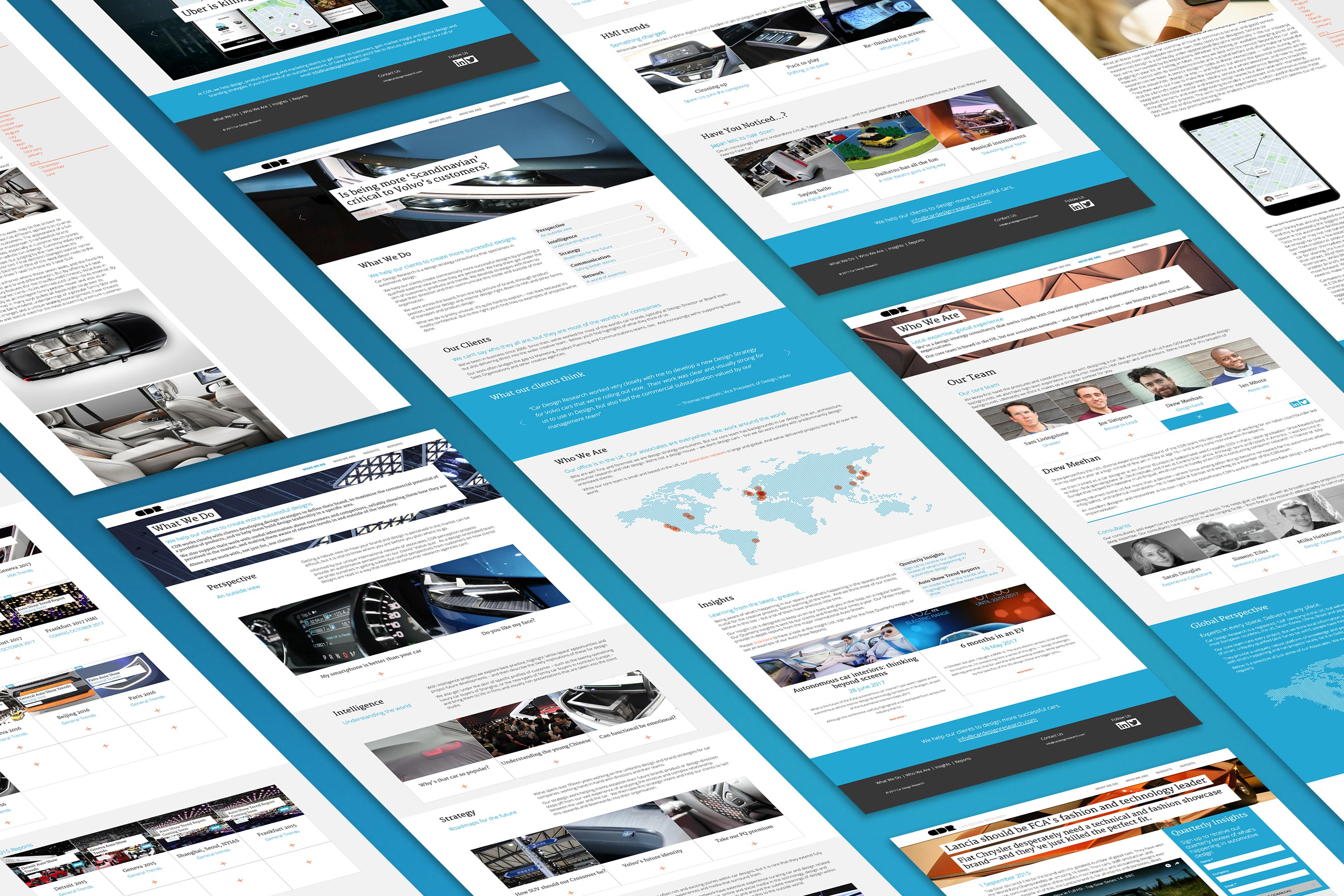 CDR Isometric website layout
